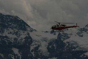 Elicottero dell'Air Glacier durante un intervento (Photo Bernhard Suter courtesy of Wikimedia Commons)