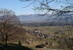 Sennwald e la frazione di Frümsen (Photo Friedrich Böhringer courtesy of Wikimedia Commons)