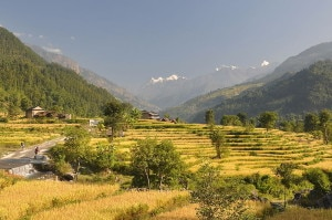 Una zona del Manaslu circuit trek, nel Nepal settentrionale (Photo Lukas Kolisko courtesy of Flickr/Wikimedia Commons)