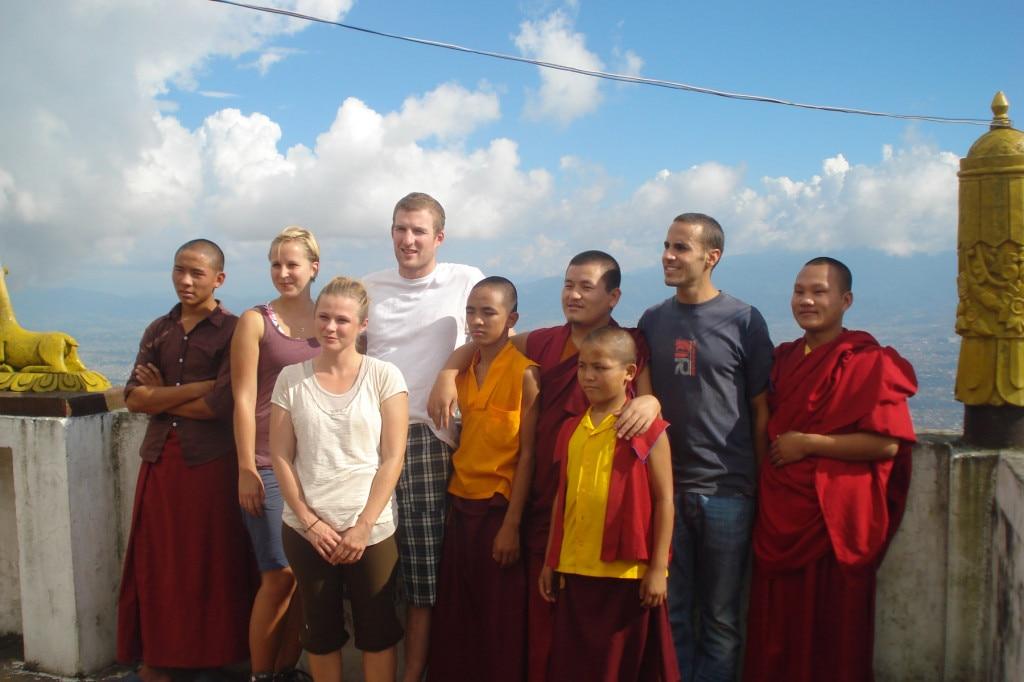 Foreigneers at Swyambhunath