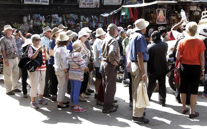Foreigner in the Capital Kathmandu