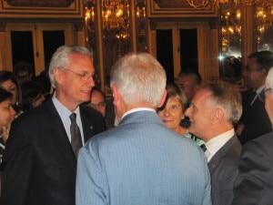Ambassador with Evk2cnr President Agostino Da Polenza during Nepal visit.