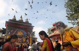 Devotees offering puja at a temple in the Capital Kathmandu on the occasion of Manawami, file photo, nepalmountainnews.com
