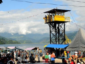 Newly erected rescue tower in Phewa lake. Photo courtesy to facebook,