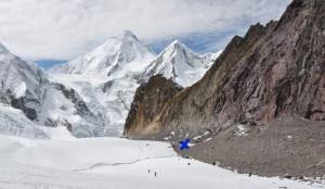 Saipal nord est - il punto raggiunto a 5440 metri _Red Roc Camp in una foto del 2010 (photo de Paulo Grobel expeditionsaipal2013.blogspot.it)