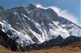 The South Face of Lhotse as seen from the climb up to Chukhung Ri. Photo: agency