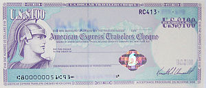 Traveler's cheque. Photo: Agency