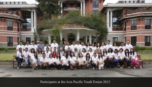 Participants at the Youth Asia-Pacific region. Photo: ICIMOD, Nepal.