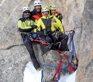 Elio Orlandi, Maurizio Giarolli, Fabio Leon e Rolando Larcher protagonisti delle serata sul Cerro Torre