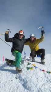 Magnus Kastengren e Andreas Fransson in cima al McKinley nel 2011 (Photo courtesy Brant.se)