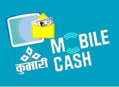 A mobile-cash advertisement logo launched by Kumari Bank Ltd.