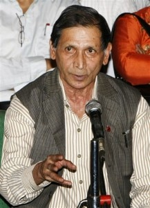 Mohan Baidya, chairman of the Unified Communist Party of Nepal (Maoist) breakaway group addresses a press conference in Kathmandu. Photo: File photo