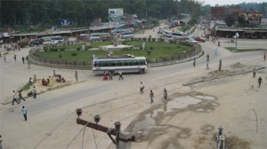 With only few vehicles plying people are heading to their home to vote the CA. Photo: NMF