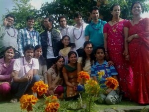 Brothers and sisters pose for a group photo after Bhai Tika. Photo: File photo/NMF