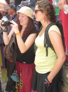 Tourists taking short snap during Gaijatra in the Capital Kathmandu. Photo NMF/File.
