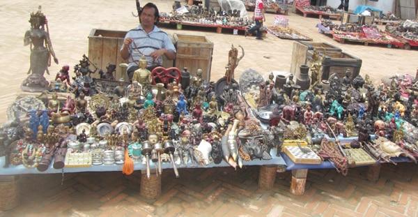 Curio shop vendor