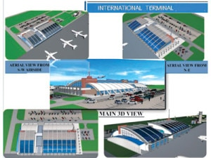 The design of the airport as finalized by the government. Photo: File photo
