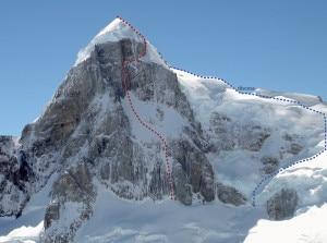 La via al Cerro Rincon di Franchini e Francesco Salvaterra (Photo Ermanno Salvaterra)