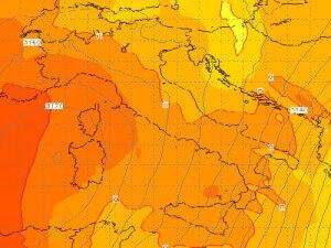 Le temperature previste il 12 Dicembre 0-1 gradi C a 3100m di quota