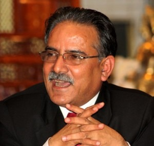 UCPN (Maoist)'s chairman Pushpa Kamal Dahal.