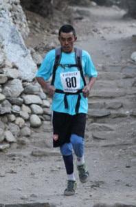 In image Ram Kumar Rajbhandari running at Pangboche in the 2011 race. Photo: Everest Marathon UK