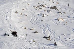 Schumacher il luogo dell'incidente sugli sci (Photo Olycom - Corriere.it)