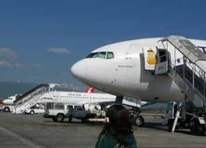 Aircrafts at TIA, Kathmandu. Photo: File photo