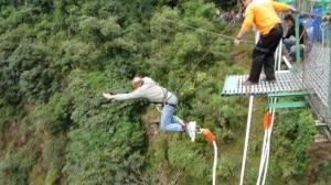 A man enjoying bungee jumping in Nepal. Photo: File photo