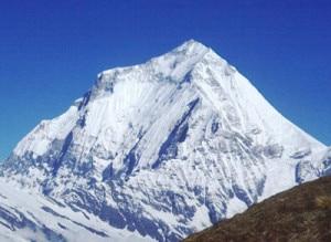 8,167 meter high Mt Dhaulagiri