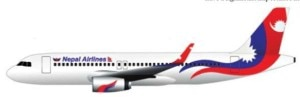 The new livery of Nepal Airlines Corporation. Photo: Courtesy to NAC