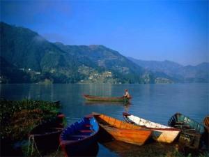 Boats at the bank of Phewa Lake in Pokhara. Photo: File photo