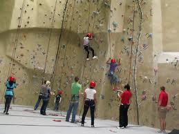 Indoor wall climbing at a training center in Kathmandu. Photo: File photo
