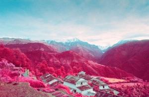 Photo of L'Annapurna visto ad infrarossi