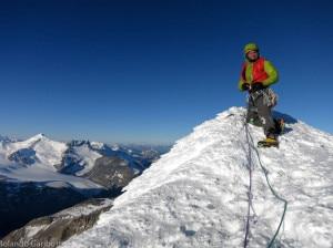 Colin Haley in cima al Cerro Piergiorgio (Photo courtesy Rolando Garibotti su www.colinhaley.com)