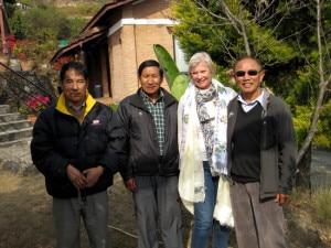 Fabienne with Ang Rita Sherpa (r) and Pasang (l)