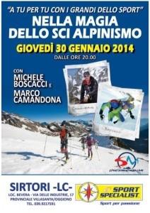 Photo of A Sirtori va in scena la magia dello scialpinismo con Camandona e Boscacci