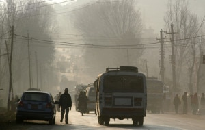 A view of polluted Kathmandu, file photo