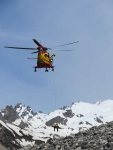 Eliccottero Soccorso alpino (Photo Cnsas Piemonte)