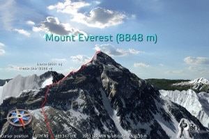 Mount Everest 3D. Photo: sciencenewsline.com