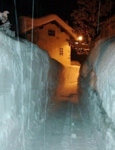 Muri di neve nell'alto Agordino (foto Emil Crepaz - ww.3Bmeteo.com)