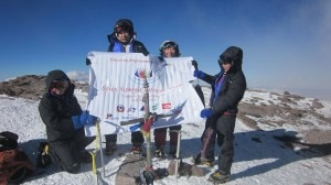 Photo of Seven Summits Women Team sulla vetta dell'Aconcagua