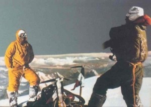 Lacedelli e Compagnoni in vetta al K2