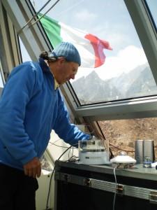 Giampietro Verza responsabile tecnico della Piramide dell'Everest