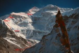 La-via-britannica-disegnata-nel-libro-di-Boardman-Sacred-Summits-sulla-foto-della-parete-nord-Photo-courtesy-Nelson-Chenkin-www.summitpost.org_-300x202.jpg