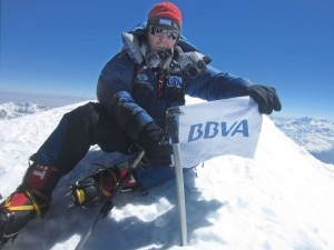 Carlos Soria in cima al Kangchenjunga (Photo Bbva)