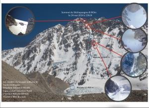 I francesi in cima allo Shisha Pangma da sud (Photo  www.gmhm.terre.defense.gouv.fr)