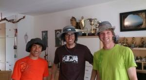 David Lama, Hansjorg Auer e Peter Ortner  (Photo hansjoerg-auer.at)