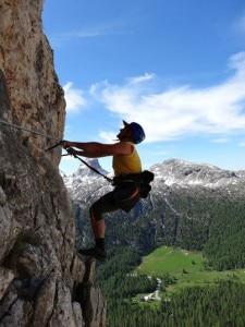 Photo of Passo Falzarego, Oliviero Bellinzani sulla ferrata alpini Col dei Bos