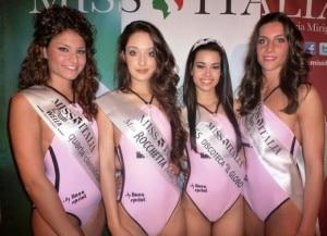 Le le Miss elette a Borgovercelli. Valentina Ponte è l'ultima a destra. (Photo courtesy of www.missitalia.it)