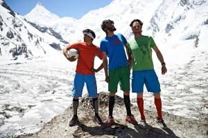 Lama, Auer e Ortner in versione Mondiale (photo David Lama Facebook)